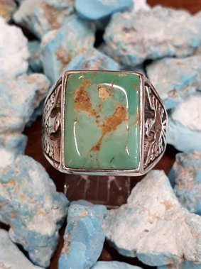 Bague aigle turquoise
